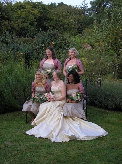 The bride and her maids....