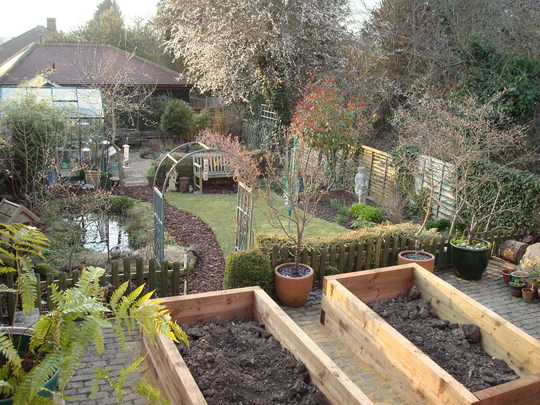 The new raised beds.