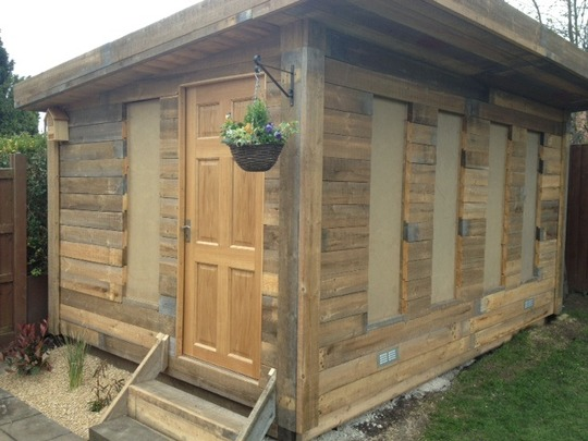 Summerhouse with a few more finishing touches.