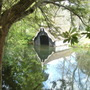 The Boat House in The Moat at Scotney castle, Kent
