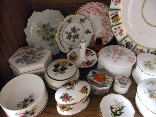 Flowers on old British China