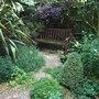 Seat in my hidden garden