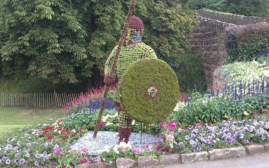 Tamworth Castle gardens, UK