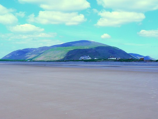View to the hills across the beach at Silecroft