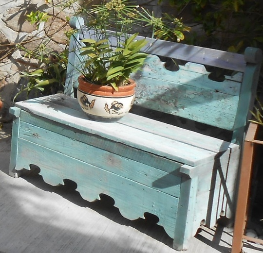 Old Mexican bench