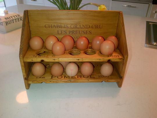 Home made Egg rack.