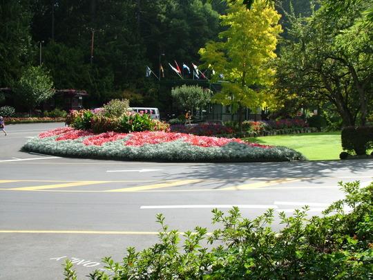 The car park entrance
