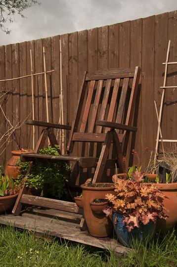 My garden 'throne' in April