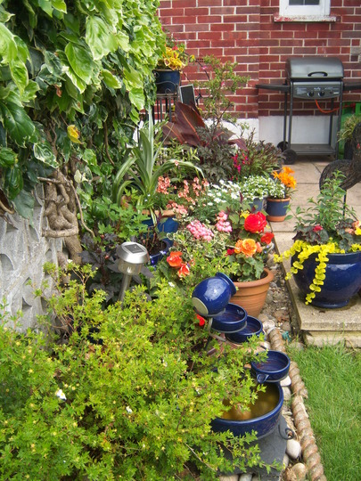 Lots more pots and Mini Water Feature