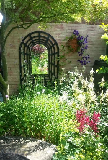 Mirror at Barnwood NGS (love your garden)