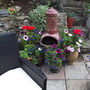 Chimenea and Patio pots