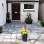 New front door slabs and pots :))