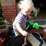 Riley does re-potting ;o)