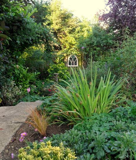 Evening sunshine in the bottom garden