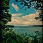 At Durgan looking down the Helford River to the open sea