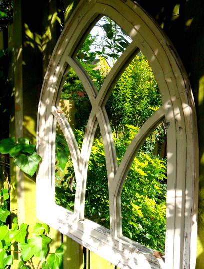 Bottom garden mirror