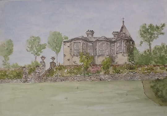 Painting of Brobury House.