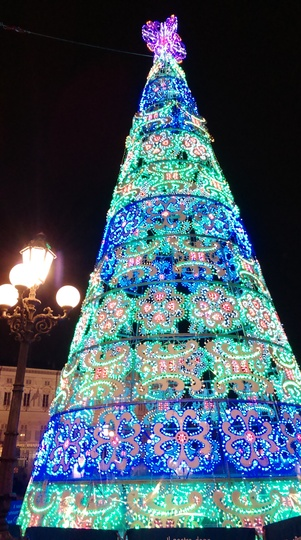 christmas tree in Tourin Italy