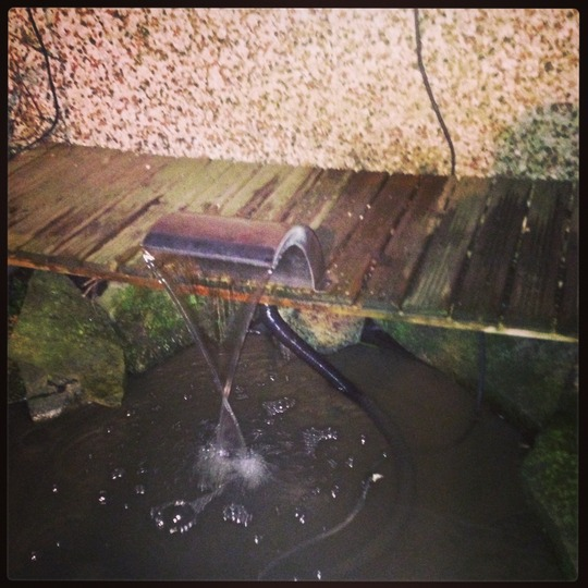 My new waterblade mounted on the bridge.