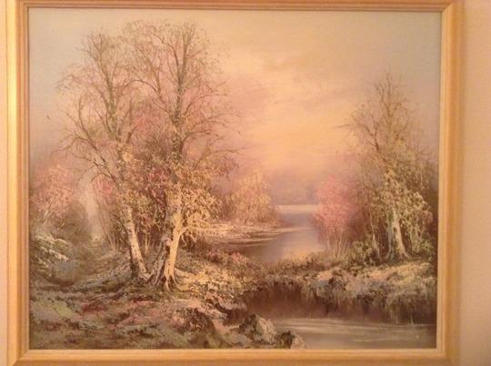 Oil Painting Snow Scene  ? ...... for Dawnsaunt.