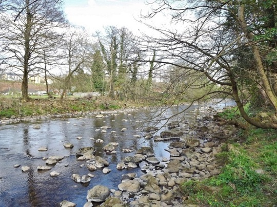 The river Aman on a bright February day :o)