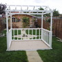 Ornemental garden decking stand.