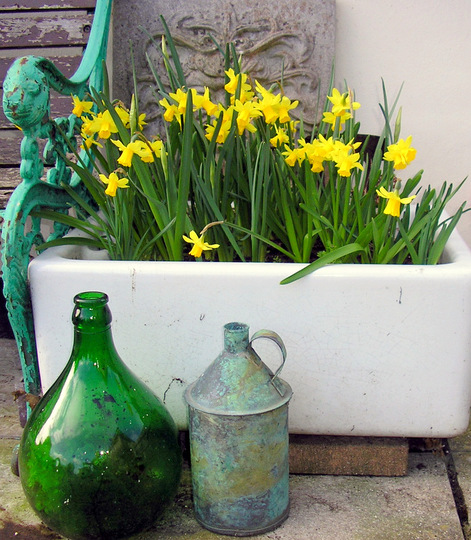 A sink full of spring