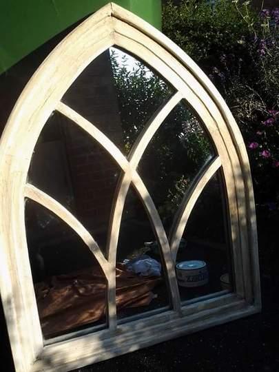 repainted garden mirror