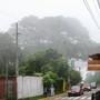 Rainy mist coming down on Salcoatitán.