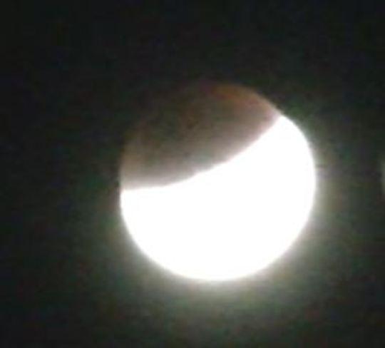 Moon eclipse last night