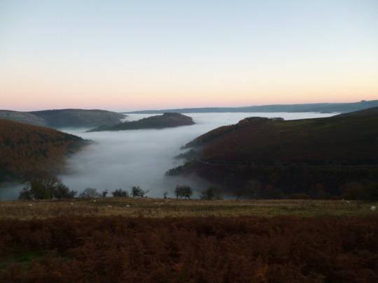 Lake or fog?