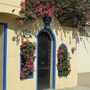 House in the Mexican village. (Bougainvillea)