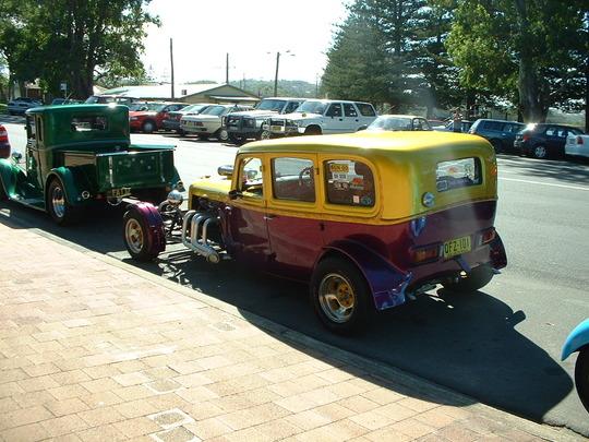 2003 Purple/Gold Custom Car. Rear View