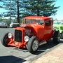 2003 Front View. Orange Custom Car