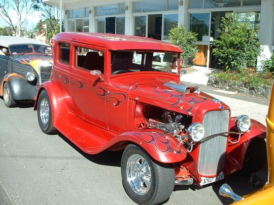 2003 Orange Custom Car. Front View