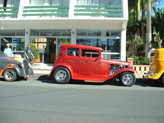 2003 Orange Custom Car. Side on
