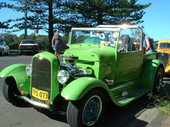 2003 Light Green Custom Truck Front view