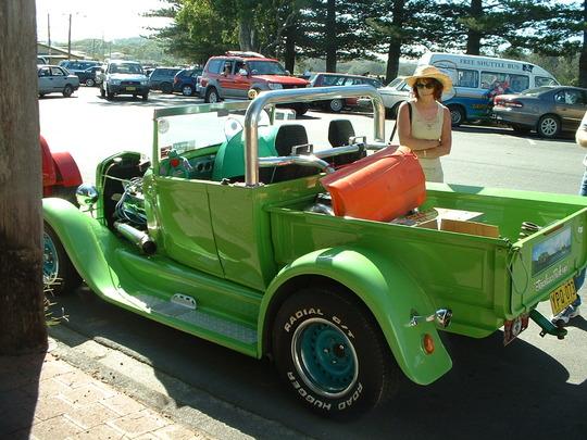 2003 Light Green Custom Truck Rear View