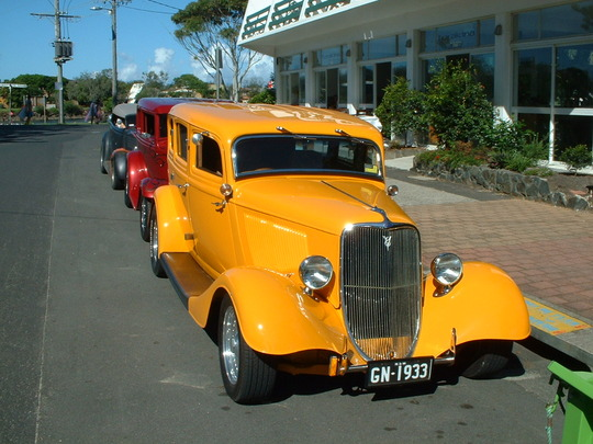 2003 Yellow Custom Car Front View