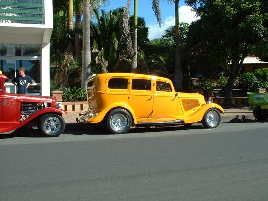 2003 Yellow Custom Car. Side View