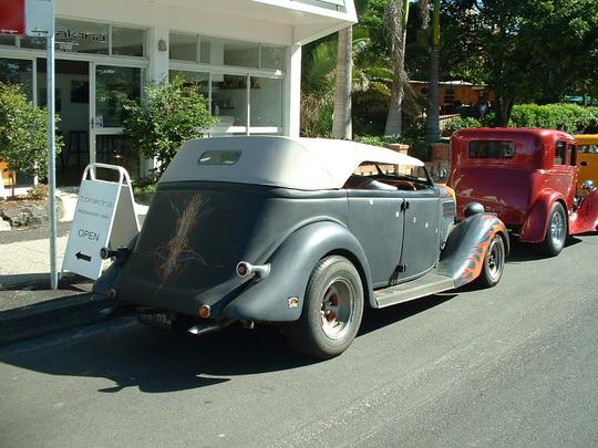 2003 Gray Custom Car. Rear View