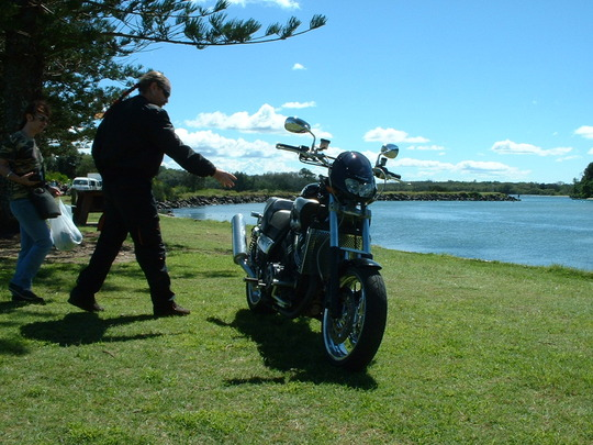 Shirley with Trog and his V max 2003