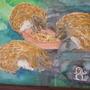 hedgehog painting in frame