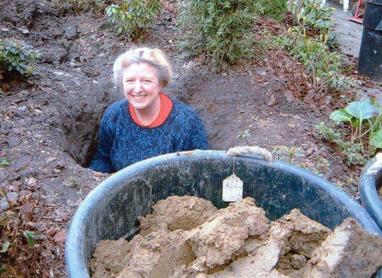 Making the garden stream in 2001