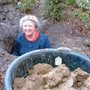 Making the garden stream in 2001