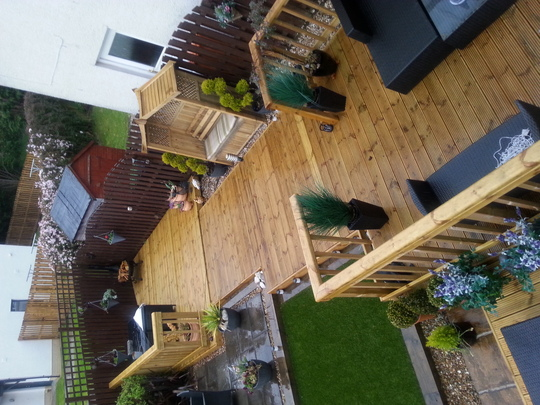 New Decking and Arbour