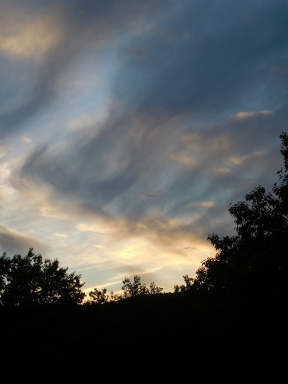 June Clearing Sunset Sky