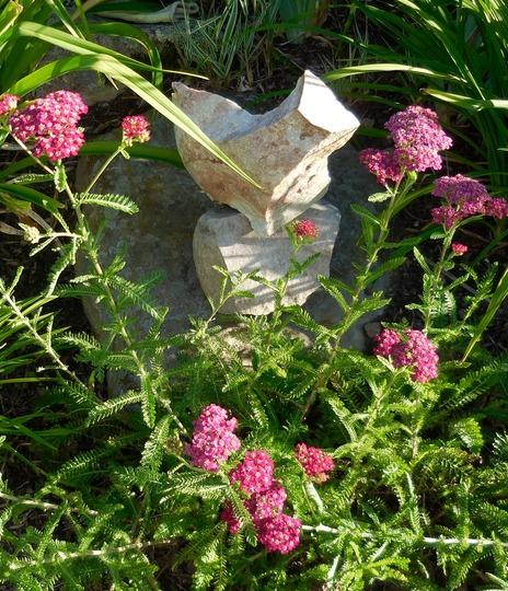 Bird rock sculpture ornament