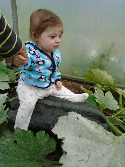 Myla checking out granchas marrow!