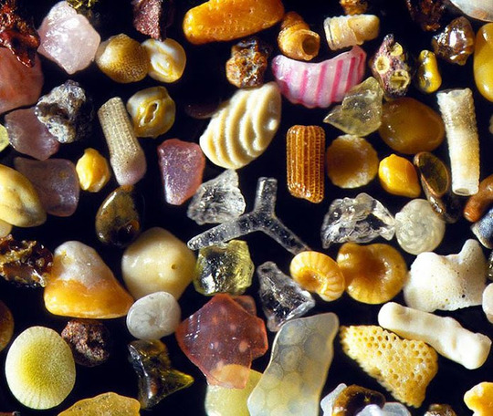 Sand magnified 300x